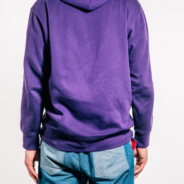 Purple pre-shrunk 'MODEL' hoodie Back