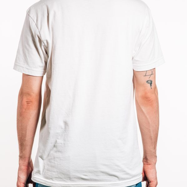 White basic logo tee Back