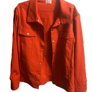 Orange ribstop denim jacket