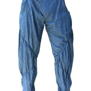 Ruched denim pants